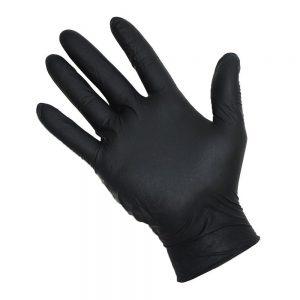 black nitrate gloves