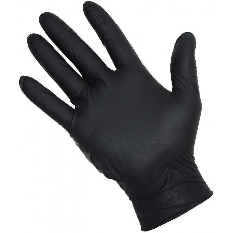 black nitrate gloves